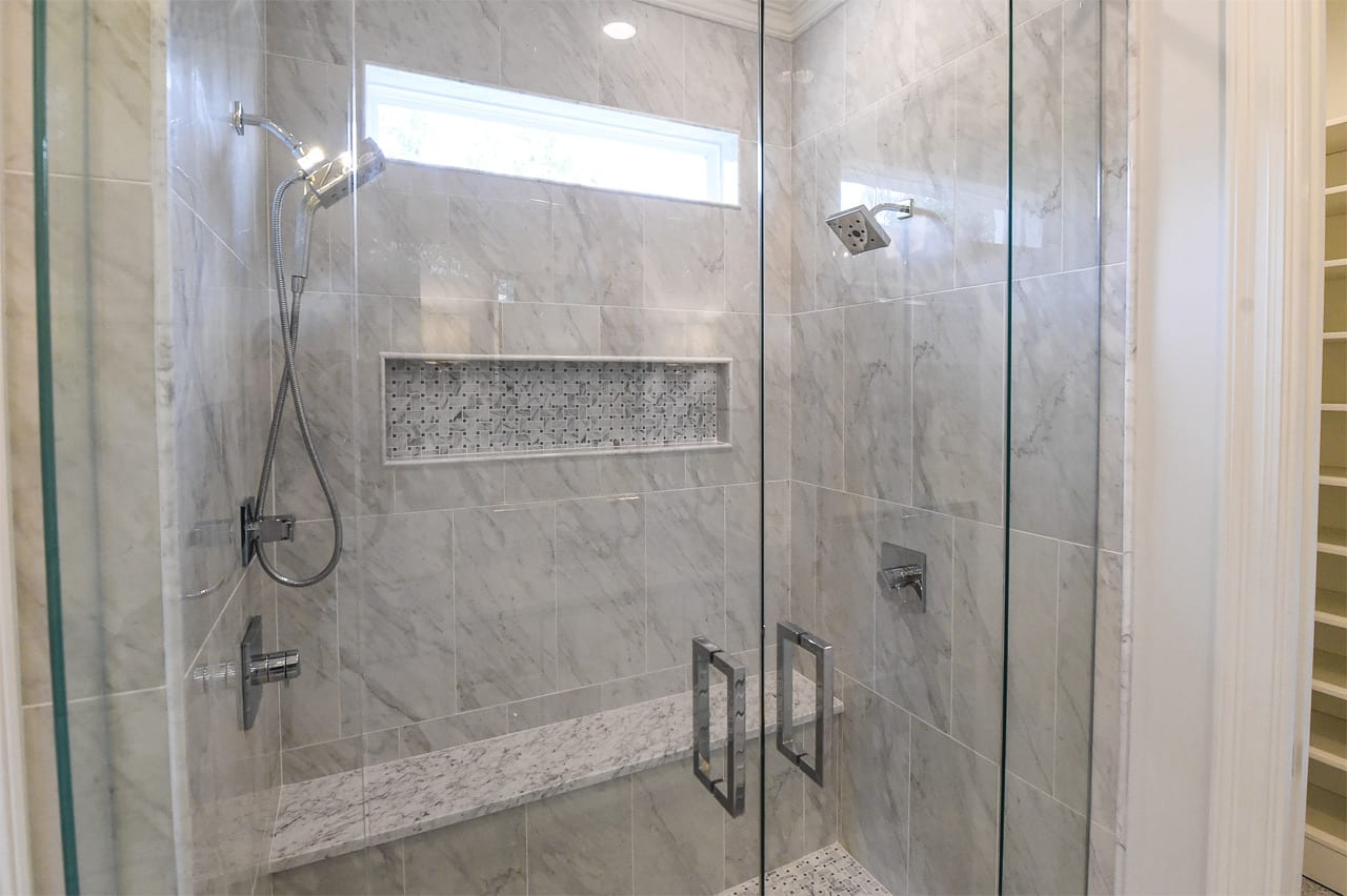 Marble and Glass Shower