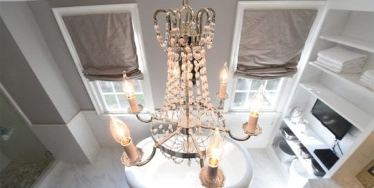 Custom Bathroom Chandelier
