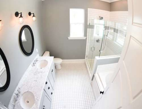 White Tile Bathroom