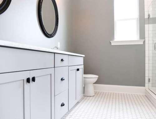Bathroom White Double Sinks