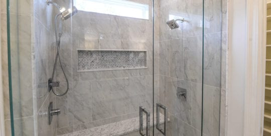 Marble and Glass Shower, Bathrooms