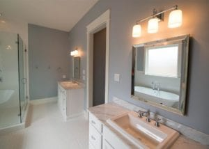 double sinks, Bathrooms