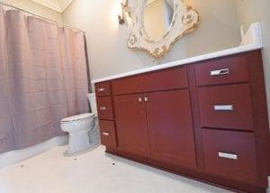red vanity, Bathrooms
