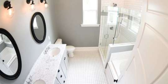 White Tile Bathroom, Bathrooms, Complete Partial Renovations